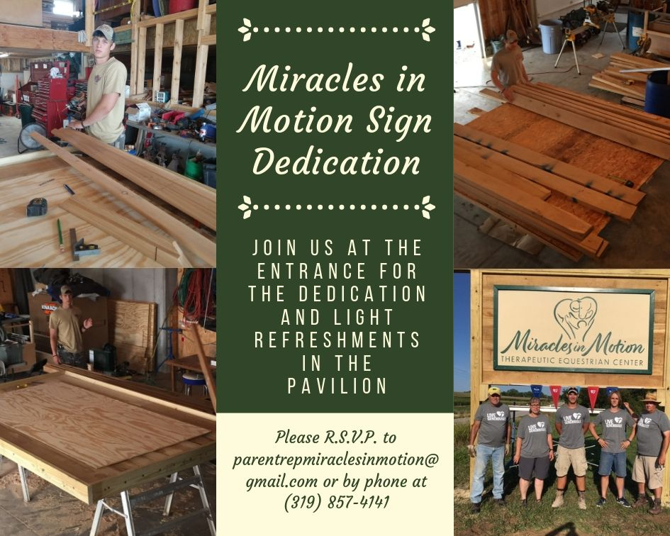 New Sign for Miracles in Motion